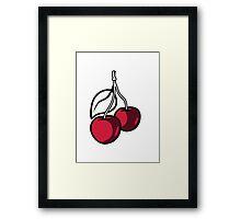 Cherries fruit organic fruit Framed Print