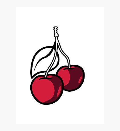 Cherries fruit organic fruit Photographic Print