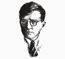 Shostakovich drawing in black by fortissimotees