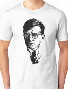 Shostakovich drawing in black Unisex T-Shirt