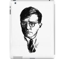 Shostakovich drawing in black iPad Case/Skin