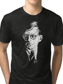 Shostakovich drawing in white Tri-blend T-Shirt