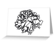 """Abstract """"Rose"""" Greeting Card"""