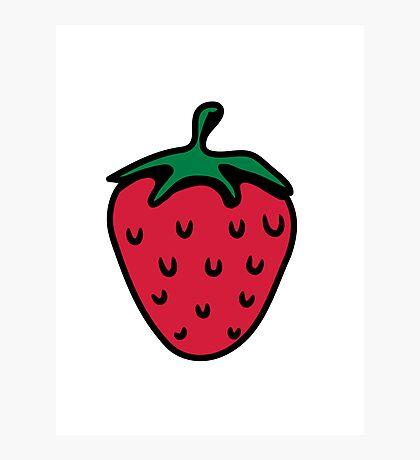 Strawberry fruit organic fruit Photographic Print