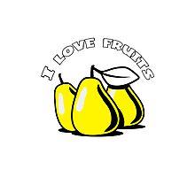 PEAR fruit organic fruit Photographic Print