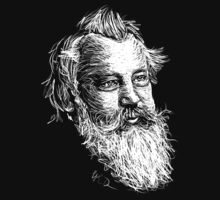 Brahms drawing in white T-Shirt