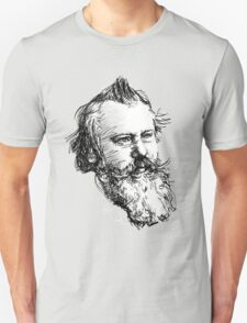 brahms drawing in black on white T-Shirt