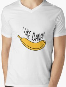 Banana fruit fruit tasty Mens V-Neck T-Shirt