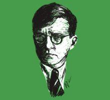 Shostakovich drawing in black on white One Piece - Short Sleeve