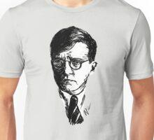 Shostakovich drawing in black on white Unisex T-Shirt