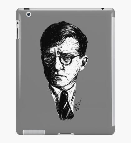 Shostakovich drawing in black on white iPad Case/Skin