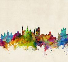 Cambridge England Skyline Cityscape by ArtPrints
