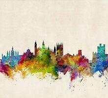 Cambridge England Skyline Cityscape by Michael Tompsett