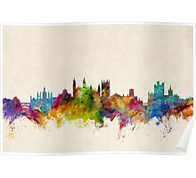 Cambridge England Skyline Cityscape Poster