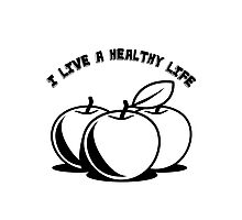 Healthy living apples fruit Photographic Print