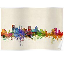 Baltimore Maryland Skyline Cityscape Poster