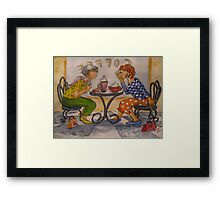 Spill the Beans Framed Print
