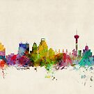 San Antonio Texas Skyline Cityscape by ArtPrints