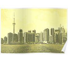 Toronto Skyline Monotone Poster