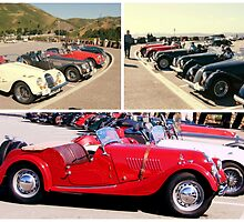 COLLAGE OF CLASSIC AND SPORT CAR RALLY SAN FRANCISCO by JAYMILO