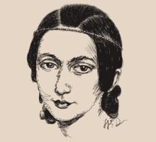 Clara Schumann drawing in black by fortissimotees