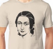 Clara Schumann drawing in black Unisex T-Shirt