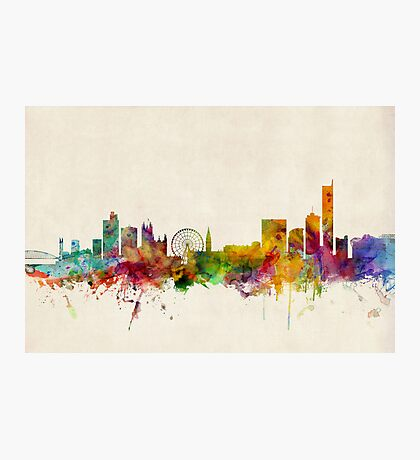 Manchester England Skyline Cityscape Photographic Print
