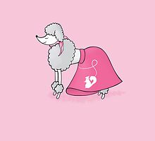 Retro Poodle by Michelle Knight