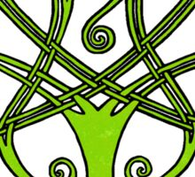 Tree of Life - Green with Black Border Sticker