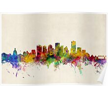 Edmonton Canada Skyline Cityscape Poster