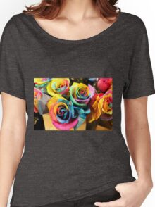 Colorful Bouquet of Rainbow Roses Women's Relaxed Fit T-Shirt
