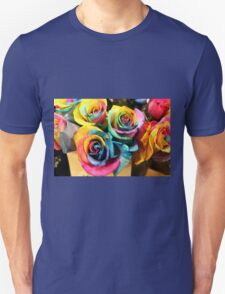 Colorful Bouquet of Rainbow Roses T-Shirt