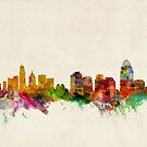 Cincinnati Ohio Skyline Cityscape by ArtPrints