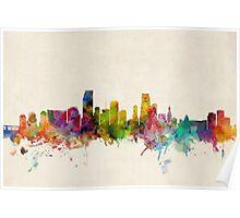 Miami Florida Skyline Cityscape Poster