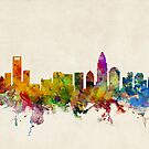 Charlotte North Carolina Skyline Cityscape by ArtPrints