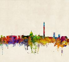 Washington DC Skyline Skyline by Michael Tompsett