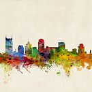Nashville Tennessee Skyline Cityscape by ArtPrints