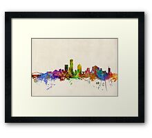 Milwaukee Wisconsin Skyline Cityscape Framed Print