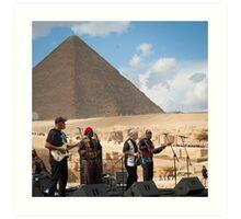Jazz for the Pharaoh  Art Print