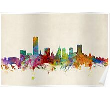 Oklahoma City Skyline Cityscape Poster