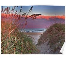 An Outerbanks Sunset Poster