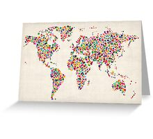 Stars Map of the World Map Greeting Card