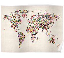 Stars Map of the World Map Poster