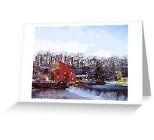 Mill at Twighlight Greeting Card