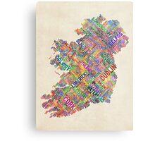 Ireland Eire City Text map Metal Print