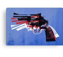 Magnum Revolver on Blue Canvas Print