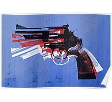 Magnum Revolver on Blue Poster