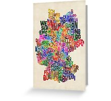 Text Map of Germany Map Greeting Card