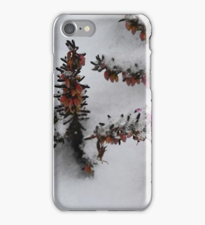 Snow Covered Heather iPhone Case/Skin
