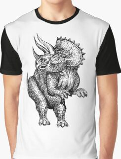 Triceratops Art Graphic T-Shirt